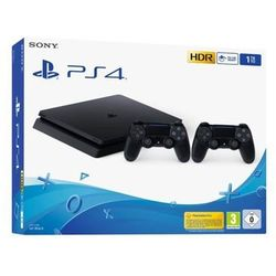 Sony PlayStation 4 Slim Black - 1TB (2 x Dualshock)