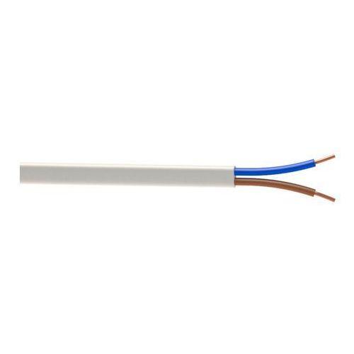 Przewody, Przewód AKS Zielonka YDYp 4/7 2 x 2,5 mm2 biały 50 m