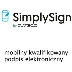 SimplySign - mobilny kwalifikowany podpis elektroniczny - wydanie - 1 rok