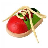 Zabawki z drewna, Drewniana Zabawka Zawiąż But - Nauka Sznurowania, PLAN TOYS, PLTO-5319