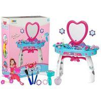 Toaletki dla dziewczynek, Toaletka z Lustrem + Akcesoria Suszarka Grzebień