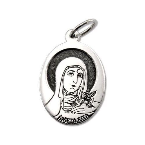 Pozostała biżuteria, Medalik srebrny z wizerunkiem św. rity med-rita-01