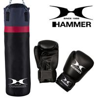 Pozostałe sporty walki, Zestaw bokserski HAMMER Cobra – worek HAMMER Cobra (100cm) + rękawice HAMMER Fit 10 OZ
