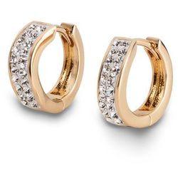 Kolczyki kółka z kryształami Swarovskiego® bonprix pozłacany