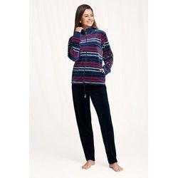 Dres damski homewear luna 305 dł/r m-2xl rozmiar: m, kolor: bordowy, luna