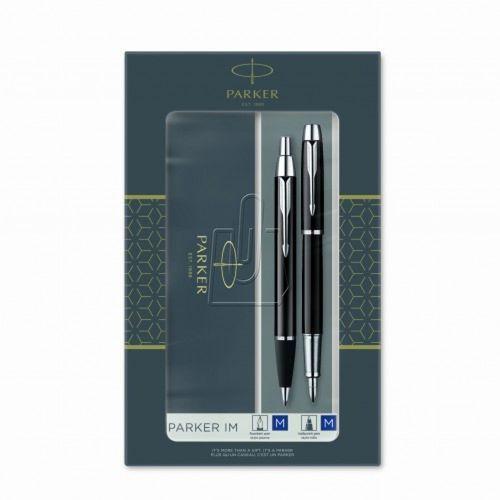 Pióra i atramenty, Zestaw Parker: IM Duo Czarny CT, pióro wieczne i długopis (P-2093215)