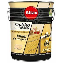 Lakier szybkoschnący Altax bezbarwny półmat 5 l