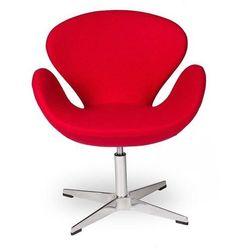 Fotel Aarhus Chrom czerwony
