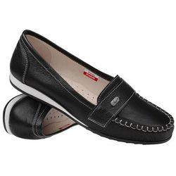 Mokasyny wsuwane buty AXEL Comfort 1513 Black - Czarny