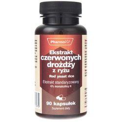 Ekstrakt czerwonych drożdży z ryżu-250 mg 90k Pharmovit