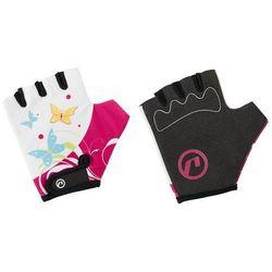 Rękawiczki dziecięce Accent Daisy biało-różowe XS
