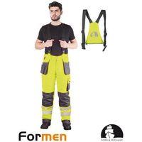 Kombinezony i spodnie robocze, SPODNIE OCHRONNE OGRODNICZKI OCIEPLANE LH-FMNWX-B POMARAŃCZOWY XXXL