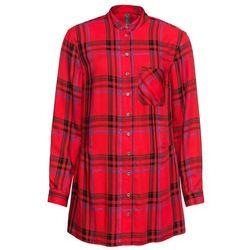 Długi shirt z wycięciami bonprix beżowo-szary