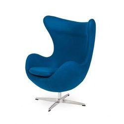 Fotel EGG CLASSIC marynarski niebieski.35 - wełna, podstawa chromowana