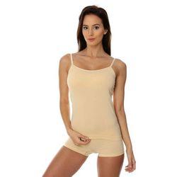 Koszulka damska Brubeck Comfort Cotton CM00210 beżowy