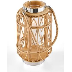Lampion z rattanu bonprix naturalny