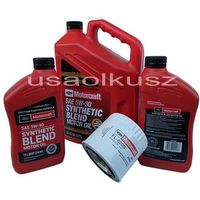Filtry oleju, Oryginalny filtr oraz syntetyczny olej silnikowy Motorcraft 5W30 Ford Expedition 5,4 V8 -2005