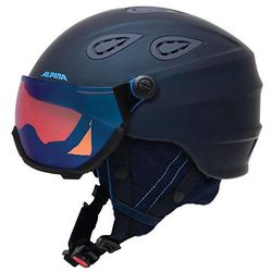 ALPINA GRAP VISIER HM NIGHTBLUE- kask narciarski z szybą wizjer R. 57-61 cm