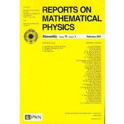 Reports on Mathematical Physics 75/1 2015 kraj - Wydawnictwo Naukowe PWN (opr. miękka)