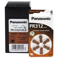 Baterie, 120 x baterie do aparatów słuchowych Panasonic 312 / PR312 / PR41