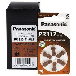 120 x baterie do aparatów słuchowych Panasonic 312 / PR312 / PR41