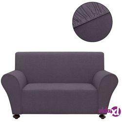 vidaXL Elastyczny pokrowiec na sofę, z dżerseju, antracytowy Darmowa wysyłka i zwroty