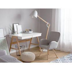 Fotel jasnoszary - wypoczynkowy - do salonu - tapicerowany - BJARN