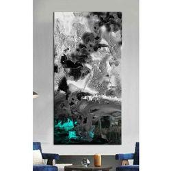 Stylowy obraz do salonu - blue puring effect rabat 40%
