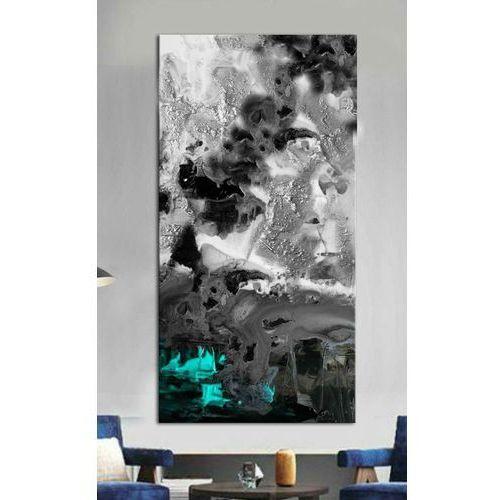Antyki, Stylowy obraz do salonu - blue puring effect