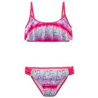 Stroje kąpielowe dla dzieci, Bikini dziewczęce (2 części) bonprix różowy hibiskus - kolorowy
