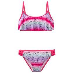 Bikini dziewczęce (2 części) bonprix różowy hibiskus - kolorowy