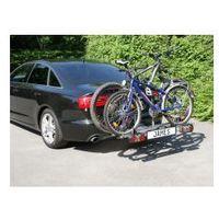 Bagażniki rowerowe do samochodu, Bagażnik na rowery platforma na hak EUFAB JAMES na 2+1 rowery