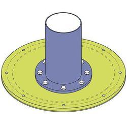 Do systemu kotwowego, Ø płyty 1050 mm, do żurawia obrotowego PS 270, nośność 100