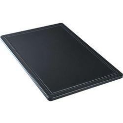 Deska do krojenia z wycięciem 600x400 mm, czarna | STALGAST, 341637