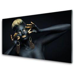 Obraz Szklany Kobieta Farba Człowiek
