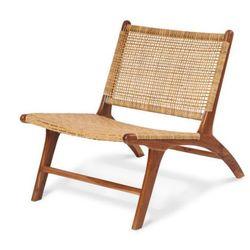 Fotel WAIPU z drewna tekowego i plecionego rattanu