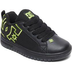 DC Tenisówki chłopięce Ct Graffik Se B Shoe Bk9 Black/Black/Soft Lime 36