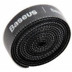 Baseus Rainbow Circle Velcro Straps - taśma rzepowa rzep organizer kabli 1m czarny (ACMGT-E01)