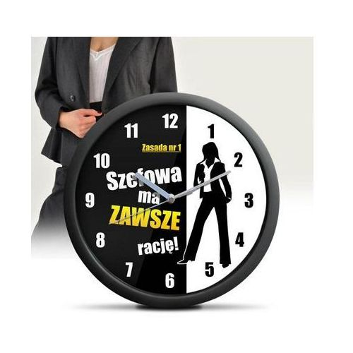 Zegary, ZEGAR ŚCIENNY- dla szefowej, kierowniczki