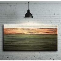 Obrazy, Stylowe i eleganckie obrazy ręcznie malowane - jesienna zieleń i miedź rabat 10%