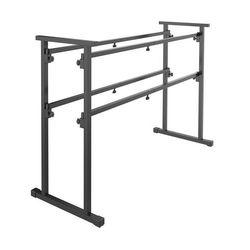 Vonyx DB1, przenośny stojak didżejski, metal, 50 kg maks., kolor czarny