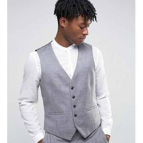 Kamizelki męskie, Burton Menswear Slim Texture Waistcoat - Grey