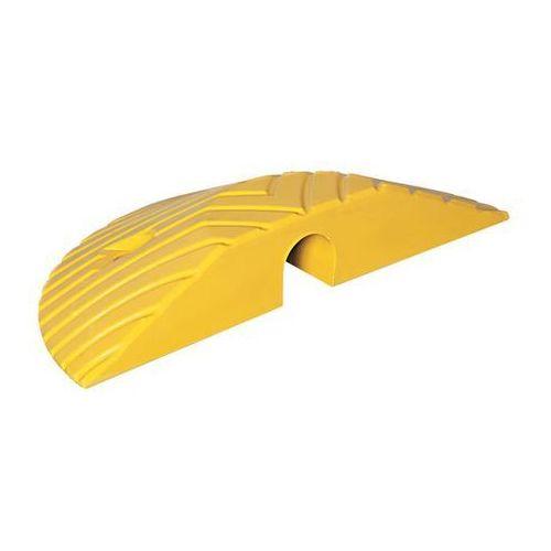Pozostałe bezpieczeństwo w domu, Element końcowy, mieszanka gumowa, szerokość 210 mm, żółty. Prędkość 10 km/h dla