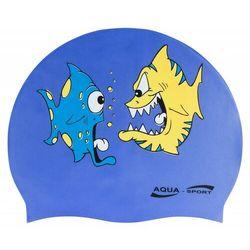 AQUA-SPORT CZEPEK BASENOWY TRENINGOWY SILIKONOWY FISH