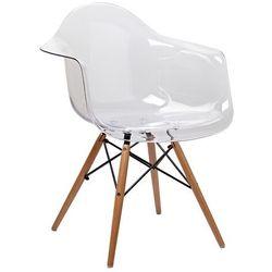 Fotel ICE WOOD transparentny - poliweglan, podstawa bukowa