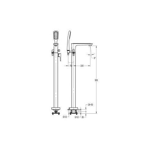Baterie do wannowo-prysznicowe, Bateria Omnires HUDSON HS4133