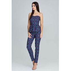 Elegancki Komplet Gorsetowa Bluzka + Długie Spodnie