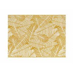 Dywan do wewnątrz i na zewnątrz z wzorem liści CURITIBA - 200 x 290 cm - Kolor żółty