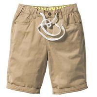 Krótkie spodenki dziecięce, Luźniejsze bermudy z wywijanymi nogawkami bonprix jasny khaki