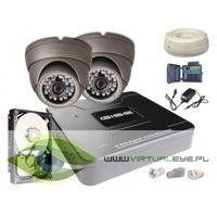 Zestawy monitoringowe, Zestaw AHD, 2x Kamera HD/IR20, Rejestrator 4ch + 500GB